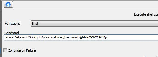 Passing parameter into VBS code within Execute Script object